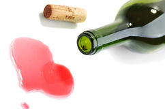Wine. Fuse and the poured wine on a white background Royalty Free Stock Image