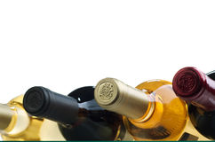 Wine. Bottle of wine on a white background Royalty Free Stock Images