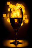 Wine. In dark with blur Royalty Free Stock Image