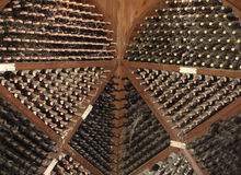 Wine. Cellar with a wine considerable quantity royalty free stock photos
