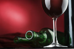 Wine. In glasses and a bottle Royalty Free Stock Photography