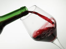 Wine. Filling a glass of red wine Royalty Free Stock Photography
