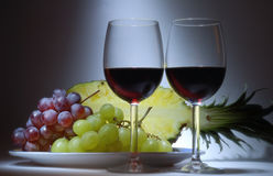 The wine. Stock Images