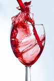Wine. Falling into glass Stock Images