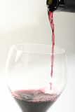 Wine. In a glas,on a withe background Royalty Free Stock Image
