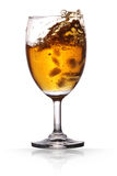 Wine. Champagne in a wine glass on isolated background with clipping path Royalty Free Stock Photo