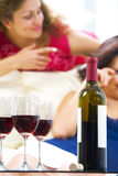 And wine Stock Image