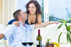 Through the wine Stock Image