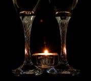 Wine. Glasses in dark background Royalty Free Stock Image