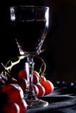 Wine. A glass of red wine and grape Stock Photography
