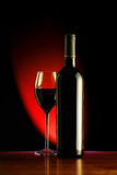 Wine. Red Wine bottle and glass Royalty Free Stock Images