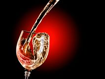 Wine. Pours into the glass Royalty Free Stock Image