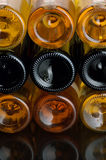 Wine. Bottles of excellent wine on a dark background Royalty Free Stock Images