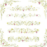 Wine abstract scroll shapes Stock Photo