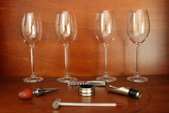 Wine accessories royalty free stock photo
