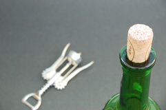 Wine accessory. On black background royalty free stock photos