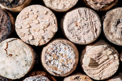 Wine Crystals on old Corks Stock Photos