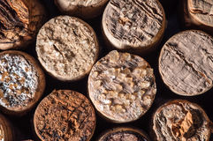 Wine Crystals on old Corks Royalty Free Stock Image
