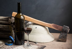 Wine of adventurer Royalty Free Stock Images