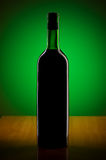 Wine against colour gradient Stock Photo