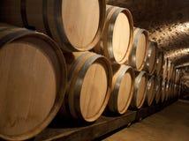 Wine Aging in Oak Barrels Royalty Free Stock Image