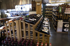 Wine alcohol grocery store Stock Photo