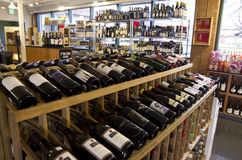 Wine alcohol grocery store Royalty Free Stock Image