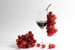 Wine amd grapes Royalty Free Stock Photo