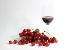 Wine amd grapes Stock Photos