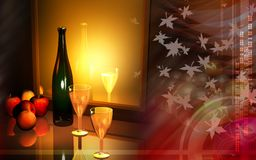 Wine And Apple Royalty Free Stock Photo