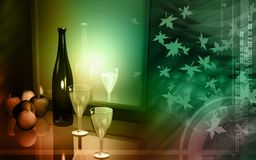 Wine And Apple Royalty Free Stock Images
