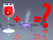 Free Wine And Cigarettes Royalty Free Stock Image - 4993166