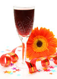 Wine And Flower Royalty Free Stock Image