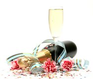 Wine And Flowers Royalty Free Stock Photo