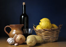 Wine And Food Ingredients Royalty Free Stock Photography