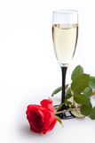 Wine And Roses Stock Photo