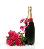 Wine And Roses Stock Images