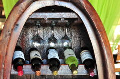 Wine ang wineglass Stock Photos