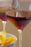 Wine and appetizer Stock Photos