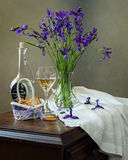Wine with the aroma of irises Stock Images