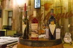 Wine arrangement Stock Image