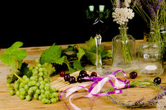 Wine arrangement Stock Image