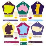 wine aus den verschiedenen Ländern der Welt Lizenzfreies Stockbild