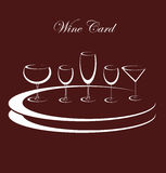 Wine background alcohol drink glasses. Vector Stock Photo