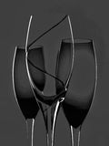 Wine Background Design. Black and white wine glassware  astract background design made from   wine glasses Royalty Free Stock Images