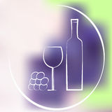 Wine background Stock Photography