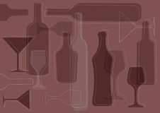 Wine background-vector Royalty Free Stock Photos