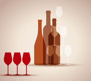 Wine background Royalty Free Stock Image
