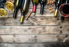 Wine background. White and red wine stock image