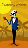 Wine Badger Royalty Free Stock Photography